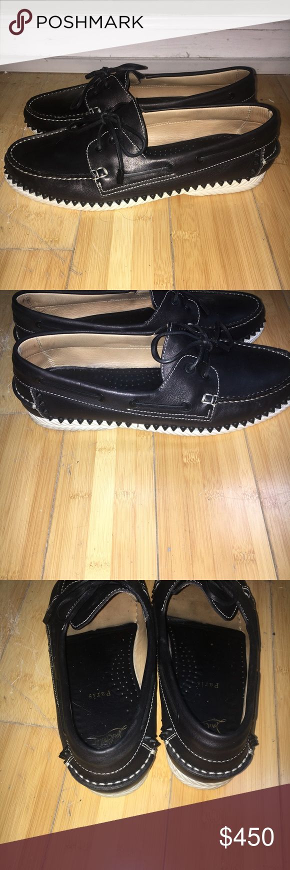 Christian louboutin , sperry boat shoes 100% auth Christian louboutin , sperry boat shoes 100% authentic in great pre-loved condition. Worn a hand full of times . CL 44 1/2 = us 11.5. Shoes only Christian Louboutin Shoes Boat Shoes