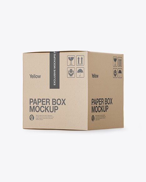 Download Kraft Box Mockup Side View High Angle Shot In Box Mockups On Yellow Images Object Mockups Box Mockup Mockup Free Psd Free Psd Mockups Templates