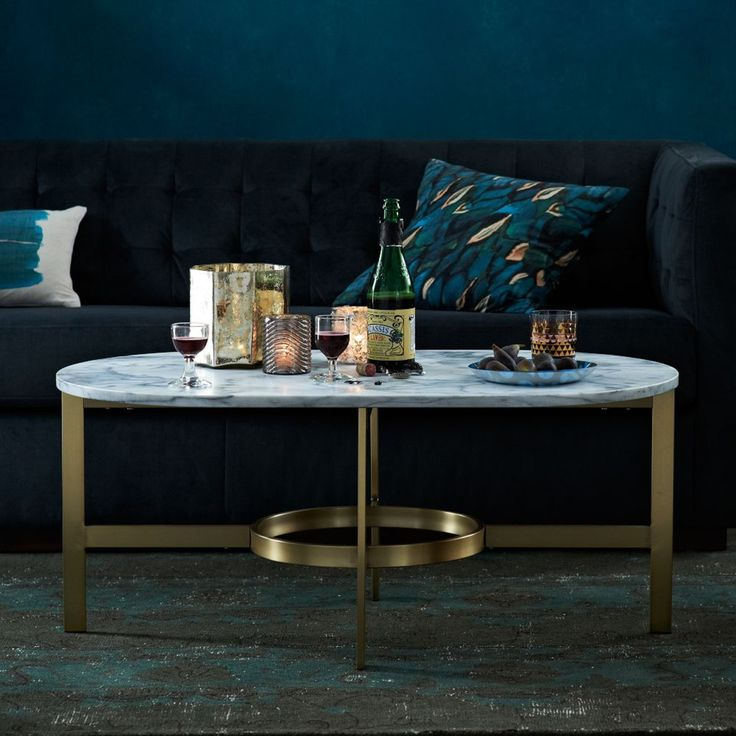 Superb Luxury Design | Majestic Golden Coffee Table With A White Marble Top |  #coffeetables Modern