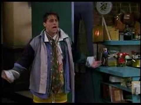 """""""Hi, I'm Chandler. Could I BE wearing any more clothes?"""" (This episode was randomly on last night. Favorite """"Friends"""" quote ever!)"""