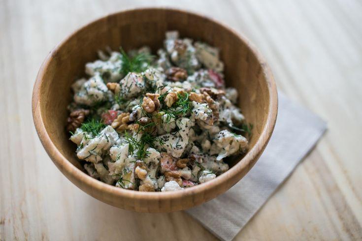 Raw Cauliflower Salad with Walnuts and Dill - Vitalvibe