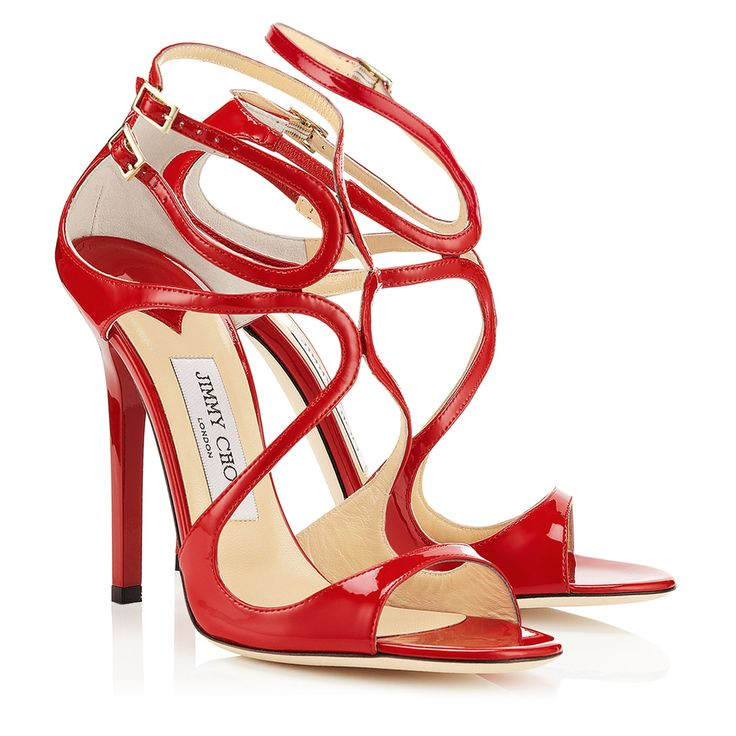 Nude Patent Leather Sandals   Strappy Sandals   Lance   JIMMY CHOO