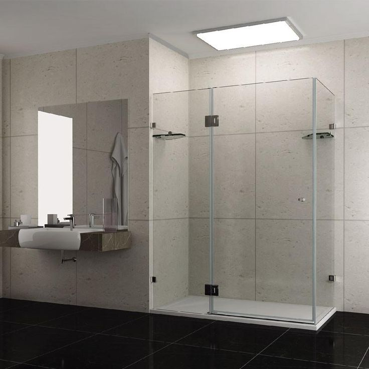&579 1200mm x 1200mm x 1900mm Frameless Shower Screen | Bathroom Trade Shed