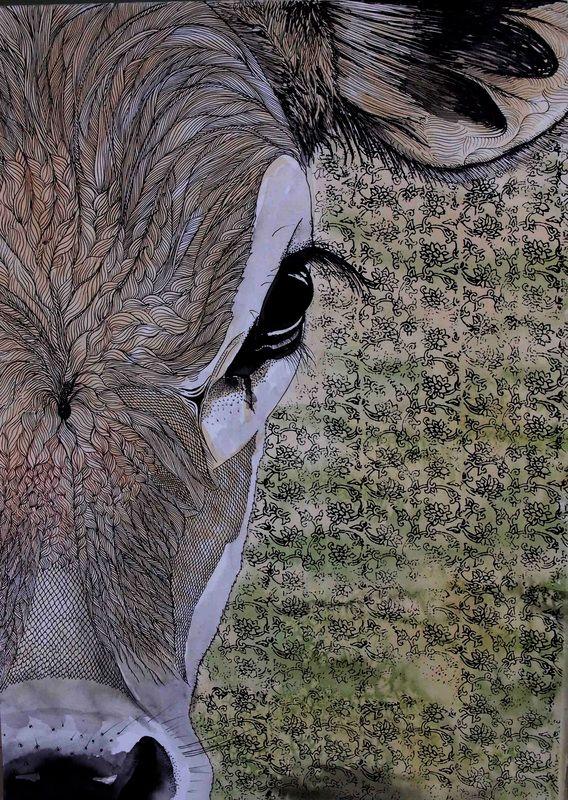"©Holly Gordon ""The Deliberation"" 2014, Collage, watercolour 43x34cm"
