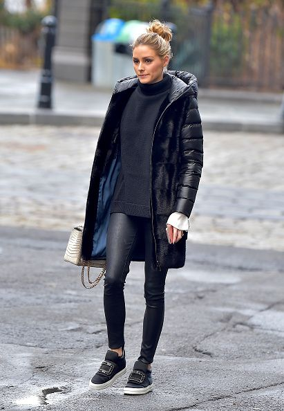 Olivia Palermo is seen in Brooklyn on January 12 2017 in New York City