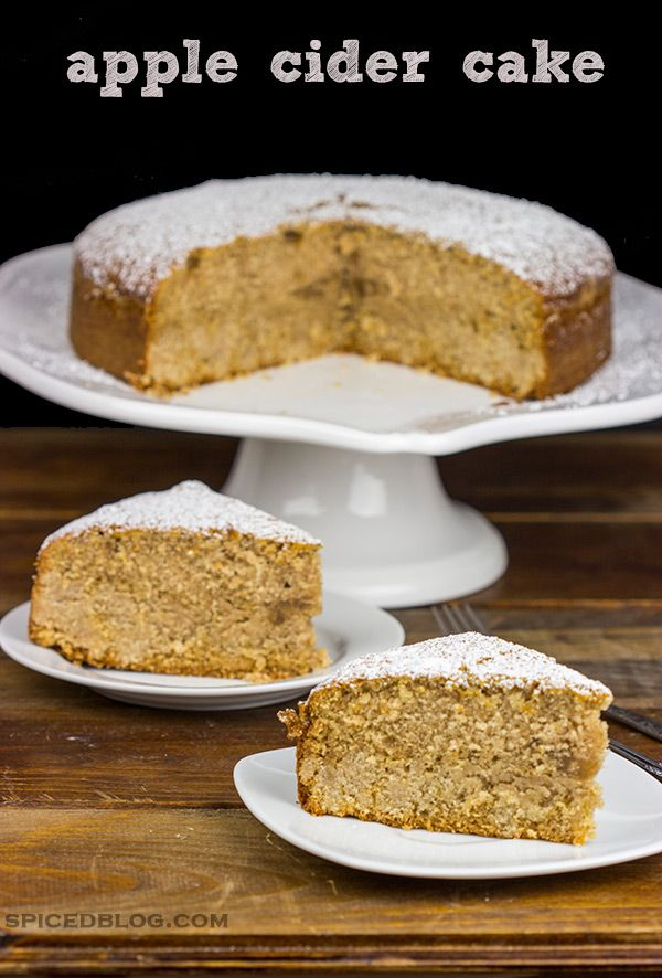 A delicious combination of brown sugar and apple cider, this Apple Cider Cake is the perfect treat for a crisp Fall day!