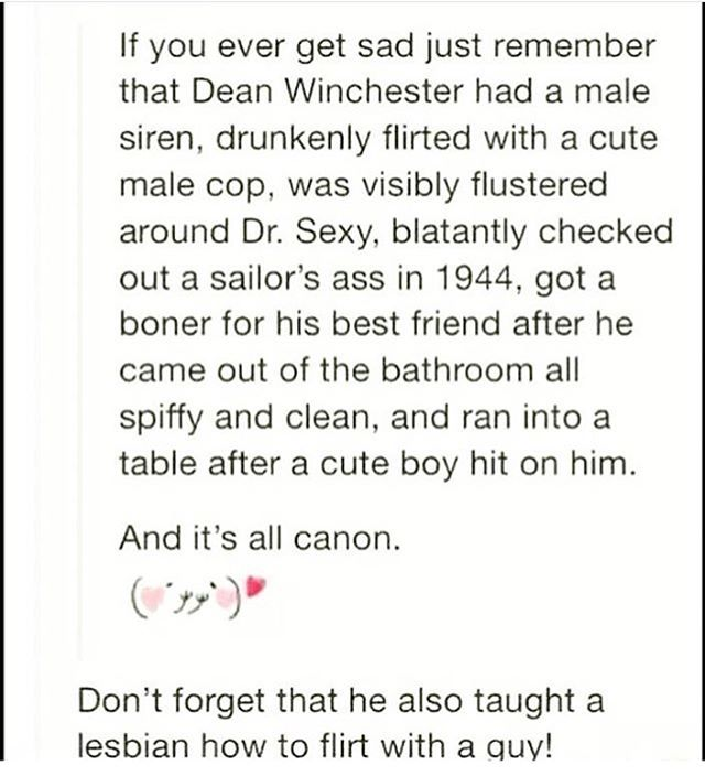 Dean's latent sexuality