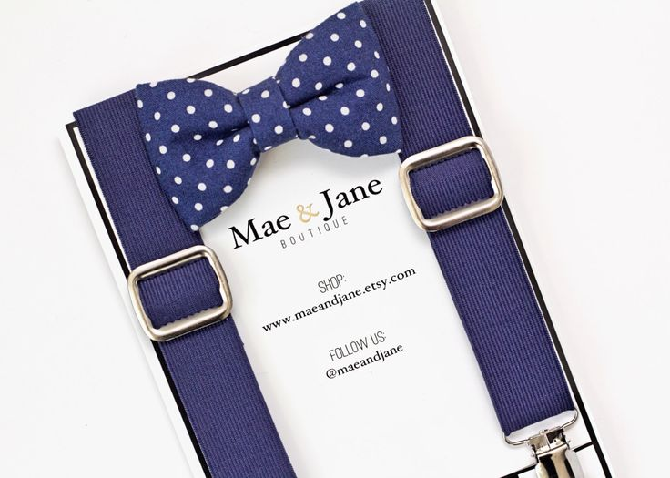 Boys Bow Tie and Suspenders SET! Navy blue and white boys bow tie with Navy Blue suspender, Christmas, wedding bow tie suspenders set by MaeAndJane on Etsy https://www.etsy.com/listing/229786671/boys-bow-tie-and-suspenders-set-navy