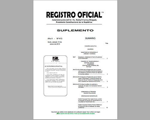 Registro Oficial Nº 413