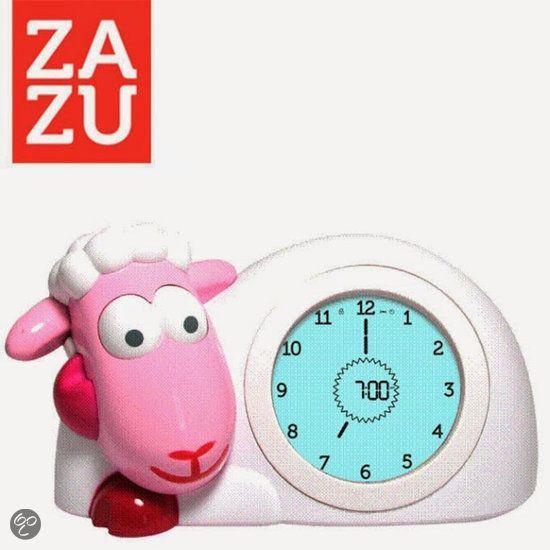 ZAZU Slaaptrainer, kinderwekker & nachtlamp Schaap Sam ROZE