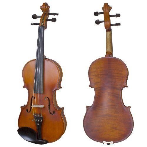 Cecilio CVA-500 Solidwood Ebony Fitted Viola with D'Addario Prelude Strings, Size 14-Inch