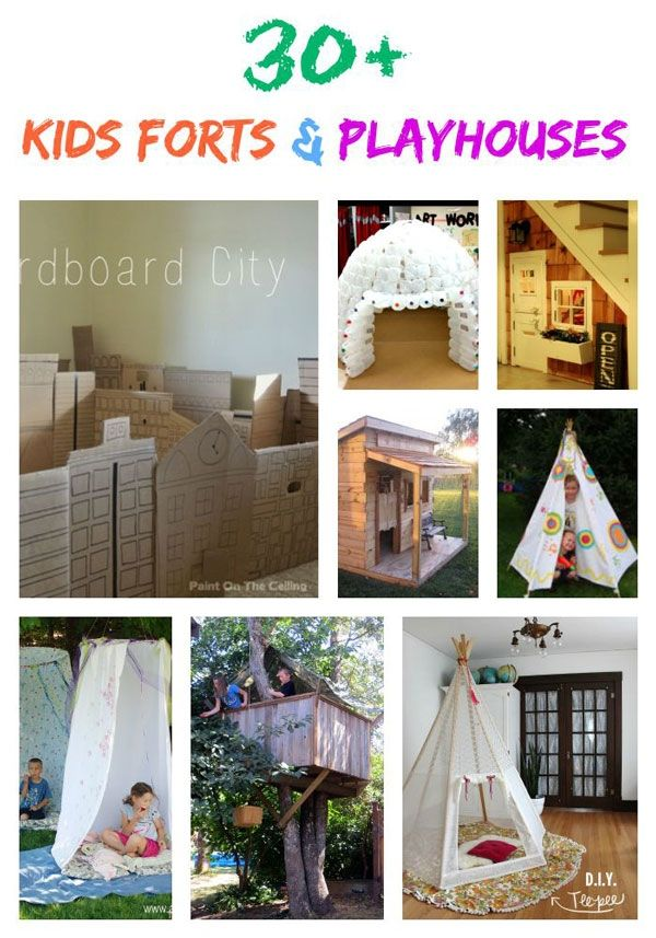 We've compiled a list of 30+ kids forts and playhouses. Forts and playhouses are an awesome way to build creativity and imagination in your children. They are magical little buildings that can be made out of anything. Make your child feel like they have their own nook in this world with these kids forts and playhouses.