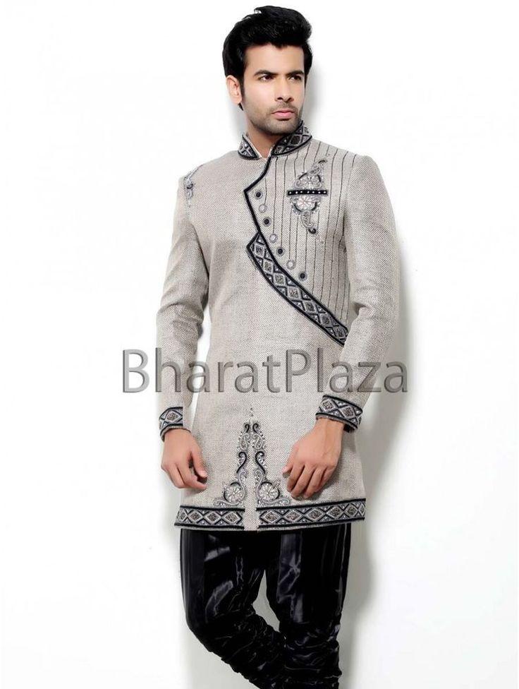 Indian Pakistani Designer Wedding Indo Western Party Wear Afgani Long Suit #BharatPlaza #DesignerIndoWestern