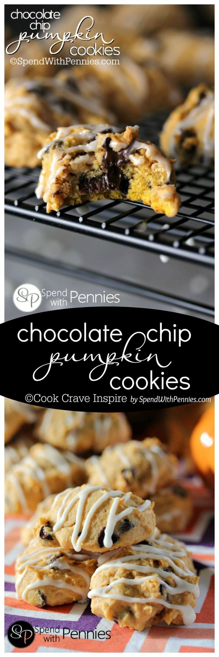 Pumpkin cookies, Soft pumpkin cookies and Chocolate chips on Pinterest
