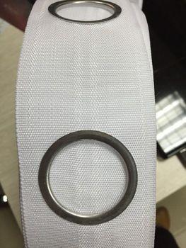 Deliği perde bandı 1m 8 halkaları/deliği 3inch( 75mm) beyaz bant/perde başlık bant 40 metre plastik snap Grommets