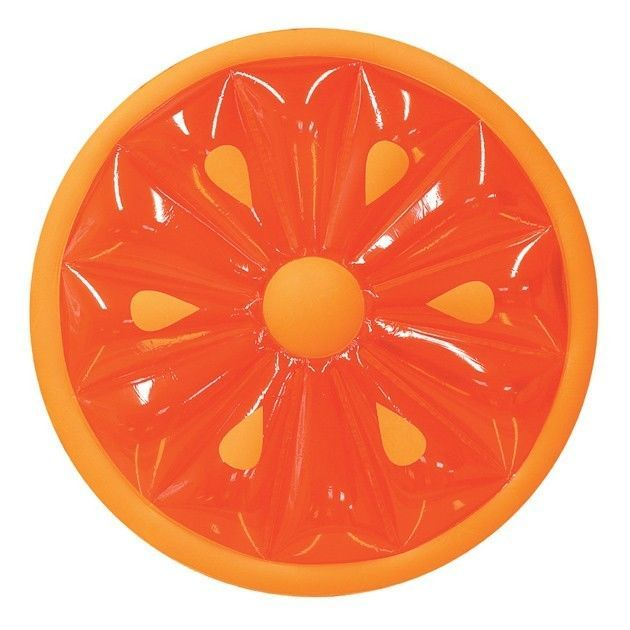 Details about Swimline 60-Inch Inflatable Heavy-Duty Swimming Pool Orange Slice Float (2 Pack)