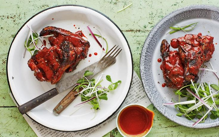 Scott Hallsworth's tea-smoked BBQ lamb chops