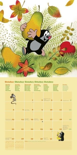 10 - Der kleine Maulwurf Kalender 2014