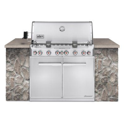 Weber Summit S-660 Built In Gas Grill - Natural Gas - 7460001-