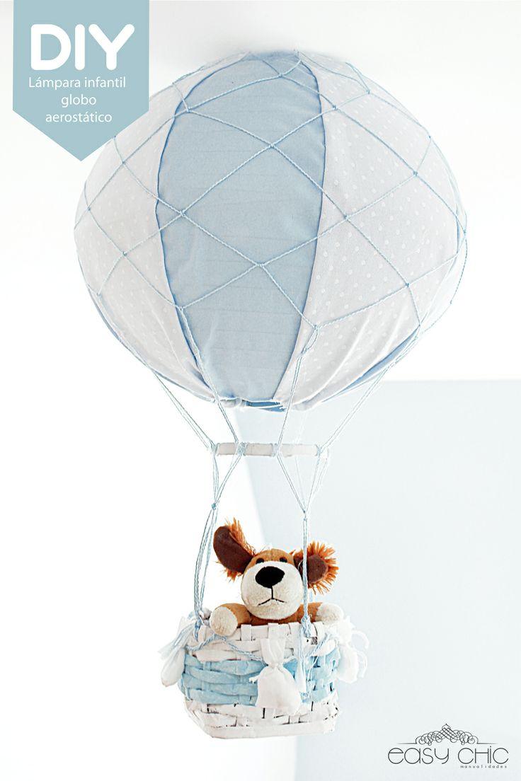DIY. Como hacer una divertida lampara globo aerostatico para la habitacion de los niños