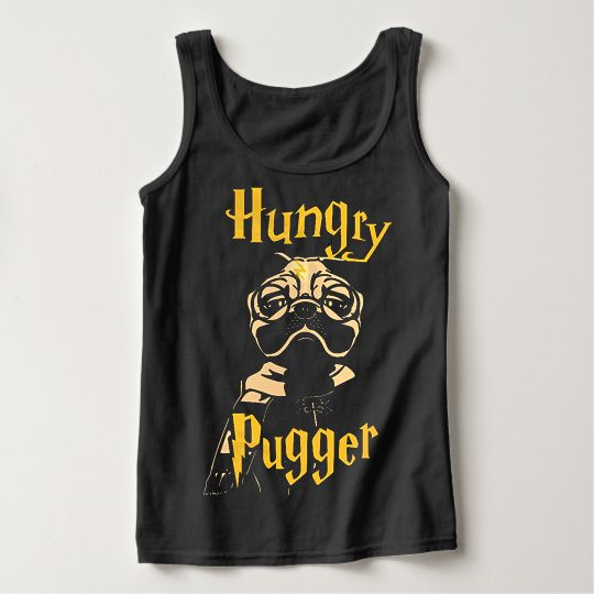Hungry Pugger Halloween Custom Tanktops