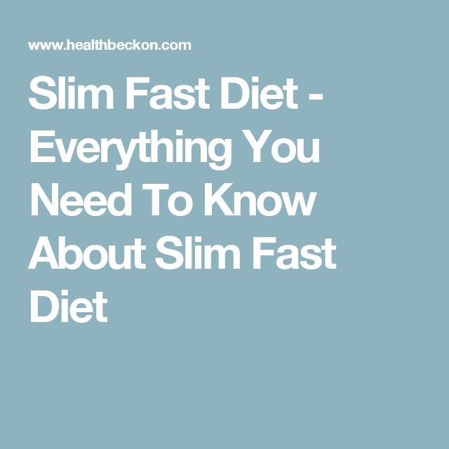 Slim Fast Diet - Everything You Need To Know About Slim Fast Diet