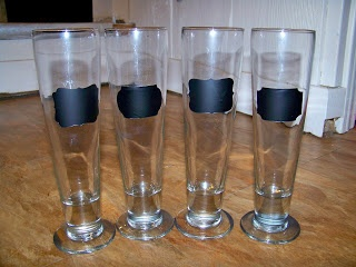 Chalkboard Beer Glasses