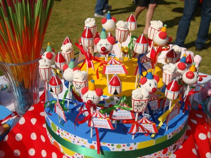 Carnival Theme Cake Pops Cakepops Carnival Cake Pops