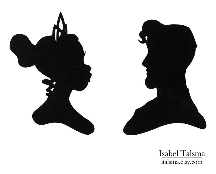 Princess and The Frog (Tiana and Naveen) Disney Paper Silhouettes. $35.00, via Etsy.