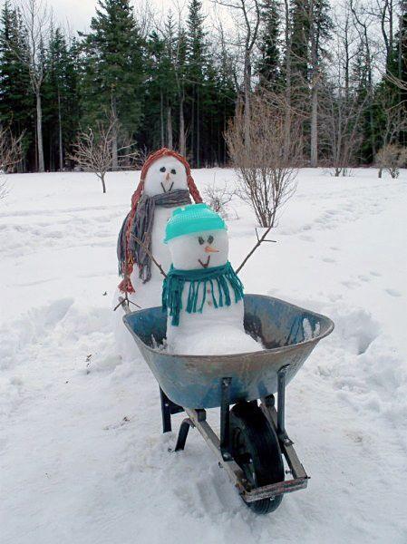 Schneemann bauen - Schneekind