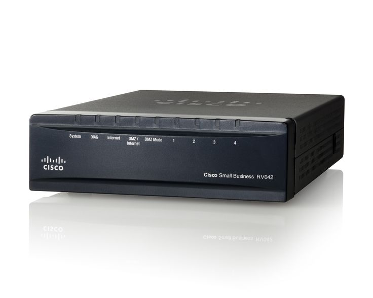 Cisco RV042 Dual WAN Router  Your business needs this.  http://www.cisco.com/c/en/us/products/routers/rv042-dual-wan-vpn-router/index.html