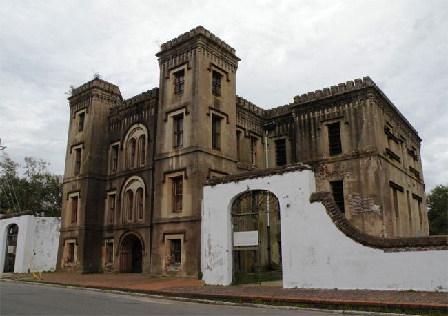The Old Charleston Jail in Charleston, SC is reported to be haunted by the spirit of Lavinia Fisher, one of America's first female serial killers.