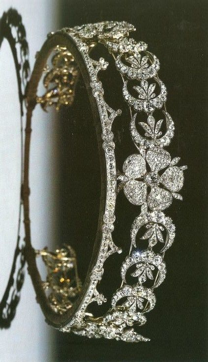 The Teck Crescent Tiara of Queen Elizabeth II.