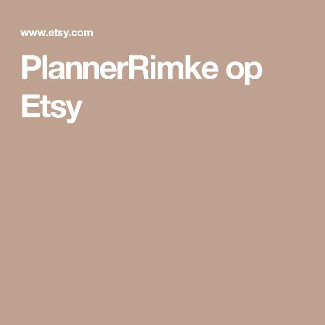 PlannerRimke op Etsy