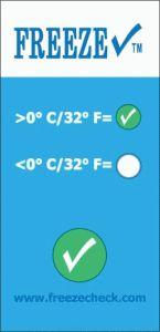 http://www.egenkontroll.nu/Mat-temperatur/Freeze-Check-0C-1000-st-per-lada.html  Freeze Check 0°C 1000 st per låda  Avslöja frysskadade produkter vid leveransmottagning. Snabb, prisvärd riskreduktion. Freeze Check ™ erbjuder ett idealiskt alternativ till ineffektiv eller kostsam övervakning. Den flexibla konstruktionen följer lätt de konturer och ytor på industriprodukter, fat och andra behållare. Med en låg enhetskostnad, kan du aplicera dem överallt där det finns en potentiell risk...