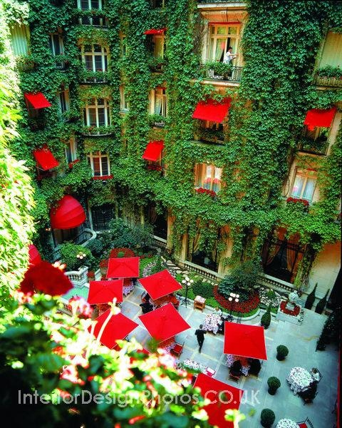 Another pinner wrote: Hotel design - Hotel Plaza Athenee, Paris France. my fav place to stay! LOVE
