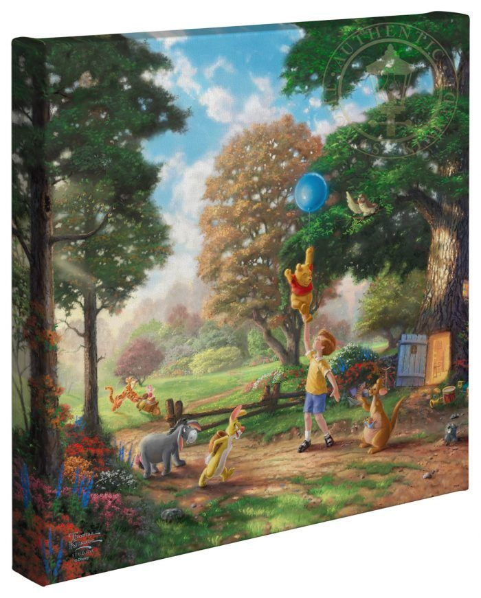 Thomas Kinkade Disney The Princess and the Frog 14 x 14 Gallery Wrapped Canvas
