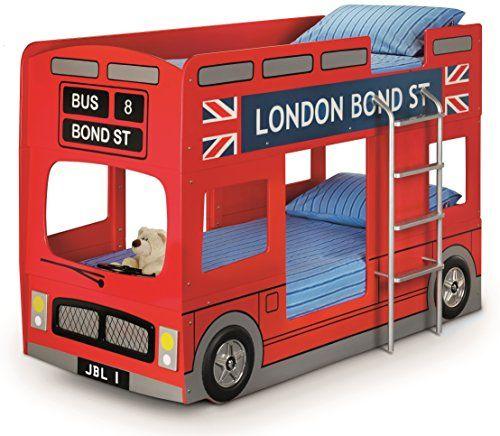 Julian Bowen London Bus Bunk Bed - UK Single, Red Julian