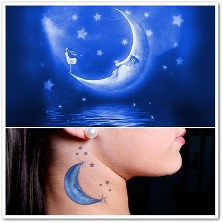 Blue moon tattoos
