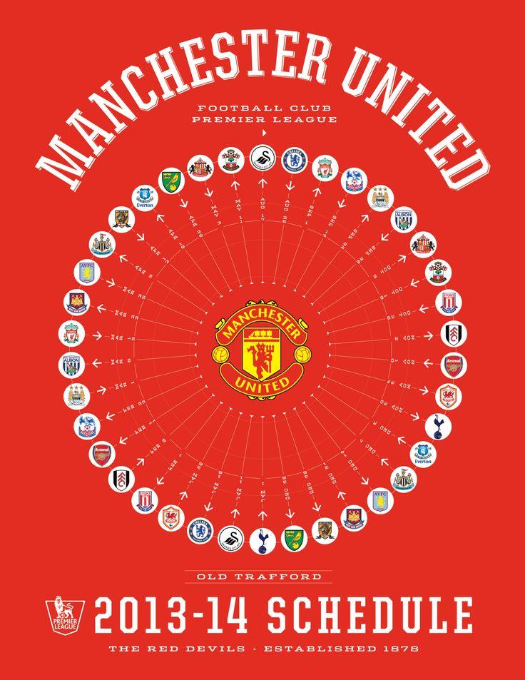 Manchester United 2013-14 Premier League Schedule