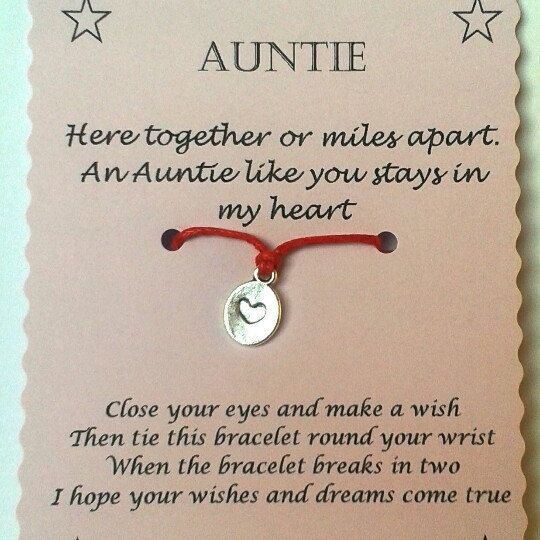 Surprise your Auntie or slip a little gift into her birthday card!
