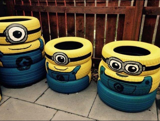 44 best mignon images on pinterest id es de jardin pneus recycler et art du pneu. Black Bedroom Furniture Sets. Home Design Ideas