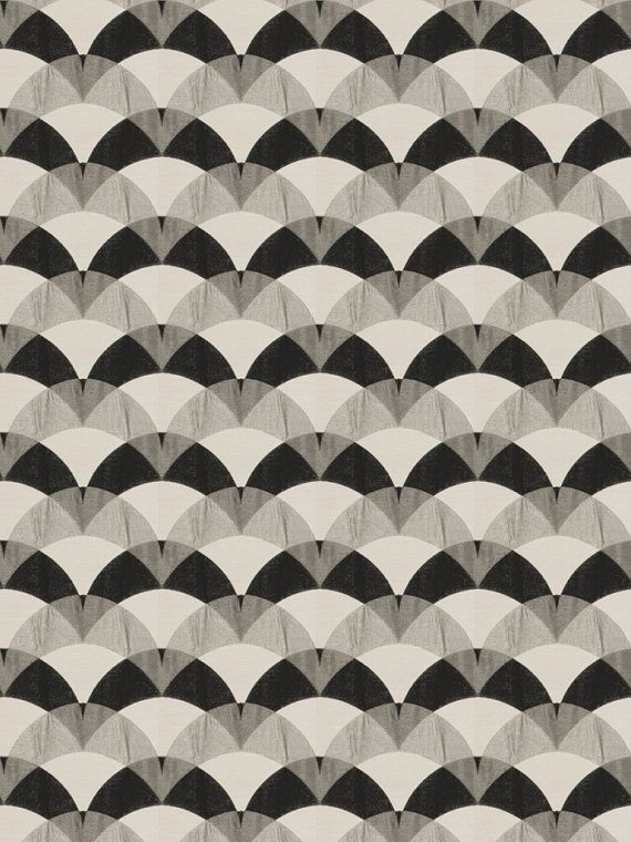 Abstract Black White Fabric - Contemporary Upholstery Yardage - Geometric Drapery Material - Black White Home Decor - Grey White Curtain