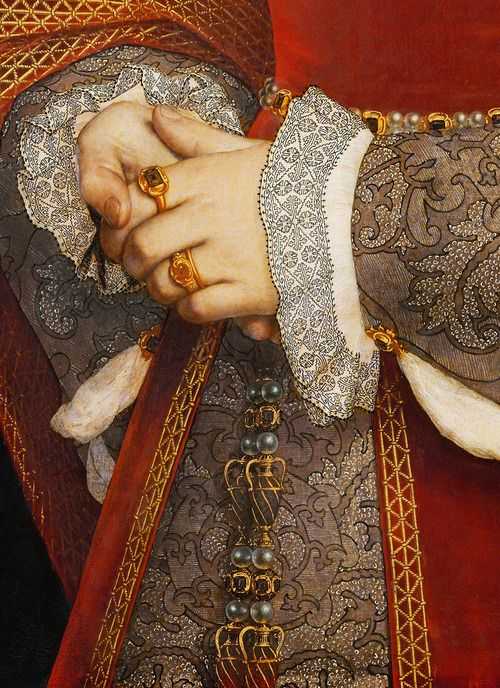 "Hans Holbein the Younger. Detail from ""Portrait of Jane Seymour, Queen of England"" [1536]"