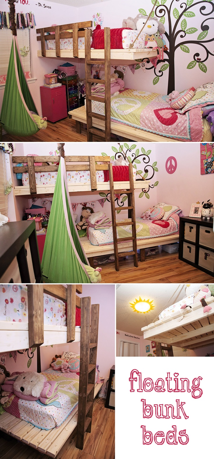 Floating Bunk Beds, and still room for storage