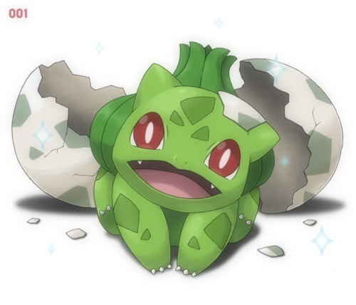Freshly-hatched Bulbasaur. Would love for this to happen!!!!