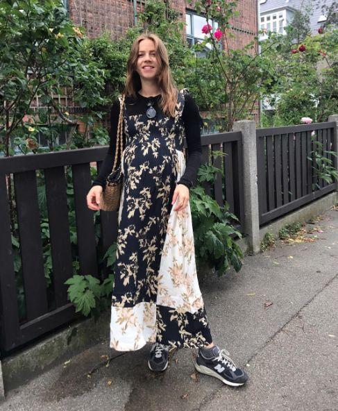 Ganni street style | Trine Kjær | St. Pierre Crepe Maxi Dress