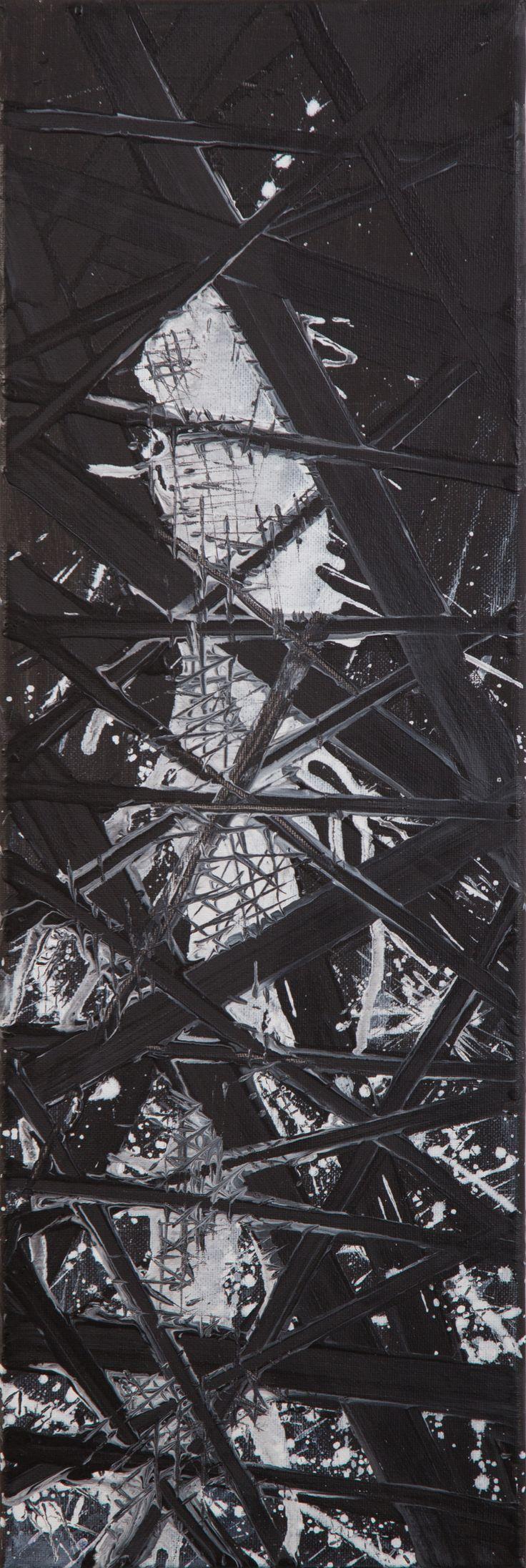 'Shadows nights' Acrylic on canvas 20/60cm (2015) Created by Anda Anastasopoulou  https://www.facebook.com/Andapainting2015  Anda Anastasopoulou - Google+ https://plus.google.com/104006191383272659096