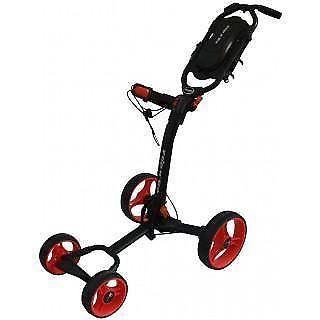 New Flip & Go 4 Wheels Golf Cart Black with Red Wheels