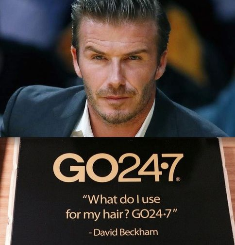 What does the 2014 top male beauty icon use for his hair? UNITE GO24-7 of course! http://fashion.hellomagazine.com/hair-and-beauty/201411212649/david-beckham-tops-list-of-celebrities-for-male-beauty-inspiration/